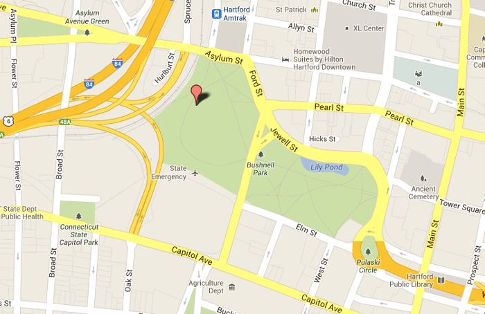 Map of Bushnell Park